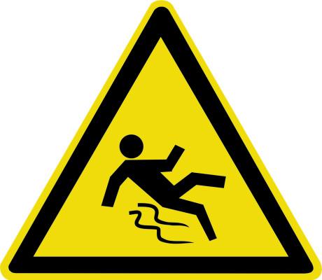 Осторожно. Скользкий пол W28