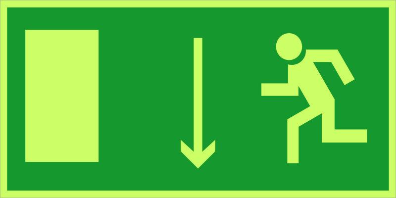Указатель двери эвакуационного выхода (левосторонний) E10 (фотолюм)