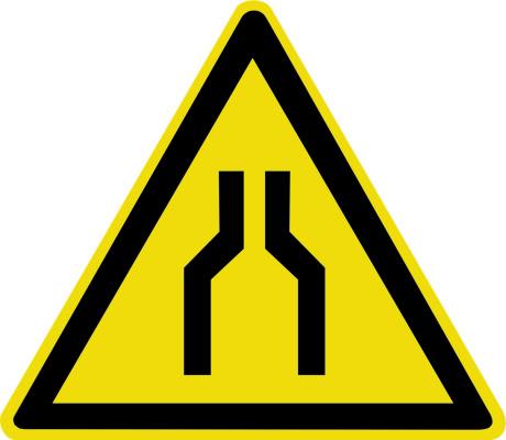 Осторожно. Сужение проезда (прохода) W30