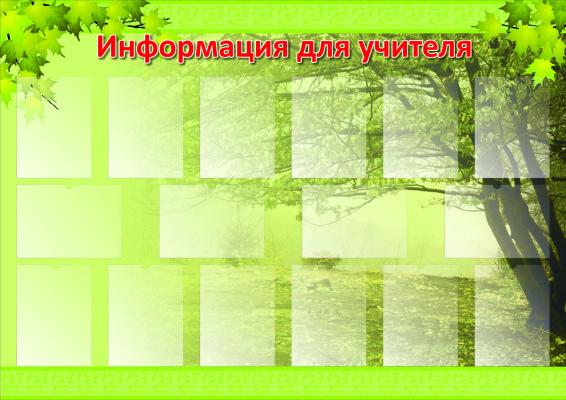 Информация для учителя (16 карманов) 1700х1200