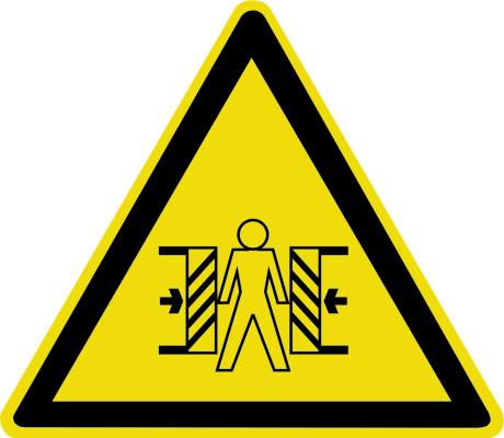Внимание. Опасность зажима W23