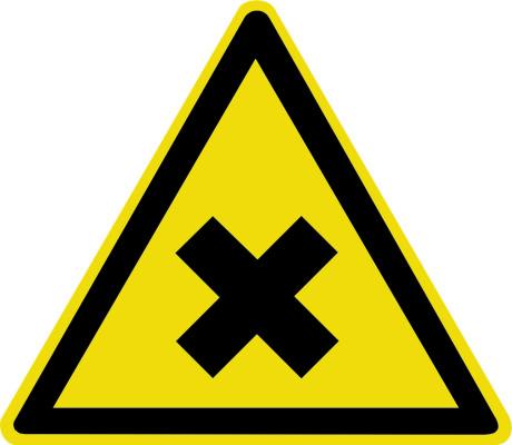 Осторожно. Вредные для здоровья аллергические (раздражающие вещества) W18