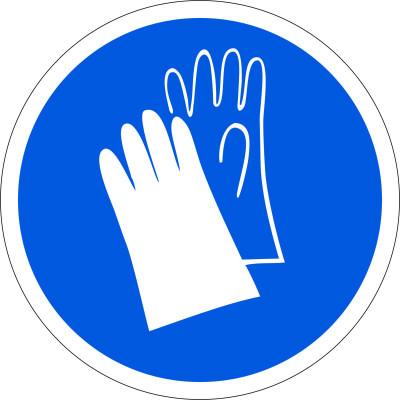 Работать в защитных перчатках М06