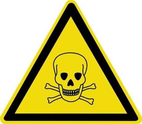 Опасно. Ядовитые вещества W03