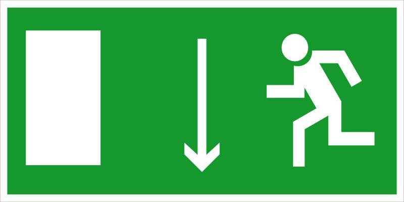 Указатель двери эвакуационного выхода (левосторонний) E10